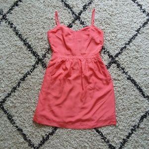 J.Crew Pink Coral Seaside Cami dress